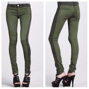 Current Elliott green rider legging jeans 25